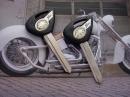 Болванка ключа Yamaha черная 2 ключа