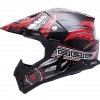 Кроссовый шлем MT красно черный