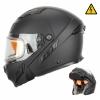 Снегоходный шлем модуляр с электростеклом MODE2 черный матовый